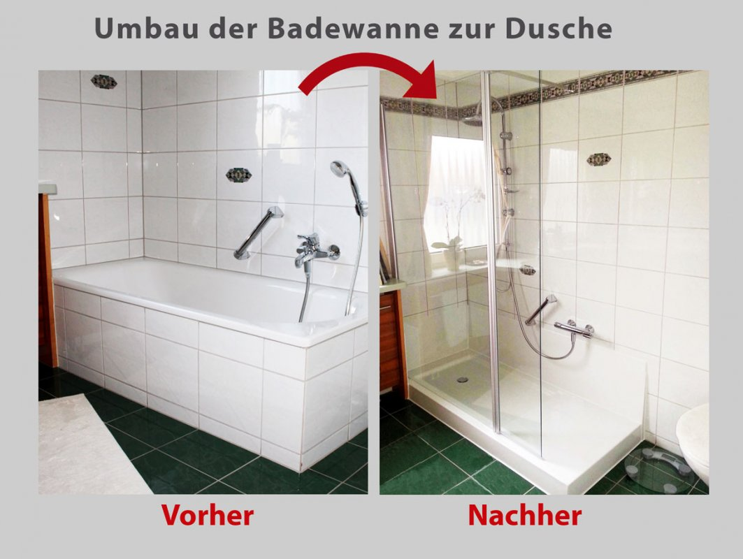 wanne zur dusche in8 stunden badbarrierefrei hamburg. Black Bedroom Furniture Sets. Home Design Ideas